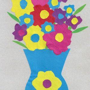 Аппликации цветов из цветной бумаги
