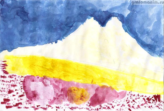 Эльбрус рисунок