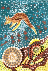 рисунок кенгуру