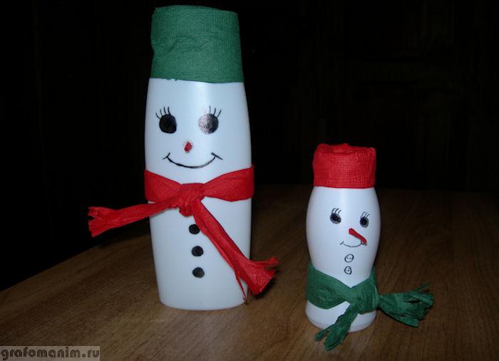 Снеговик из бутылки