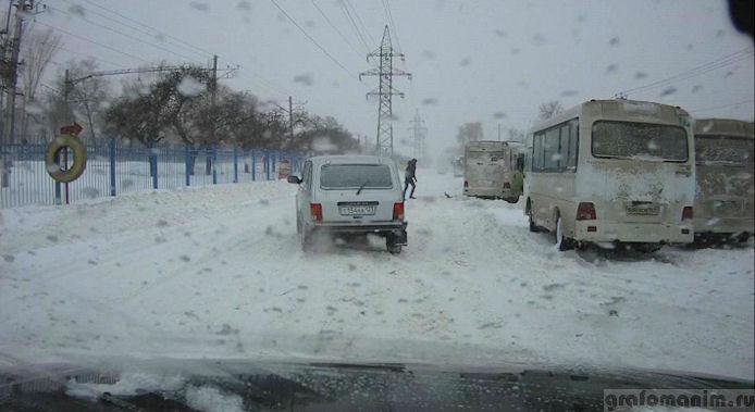 Снегопад в Ростове-на-Дону