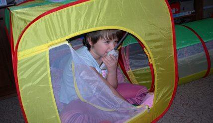 Детский палаточный городок дома!