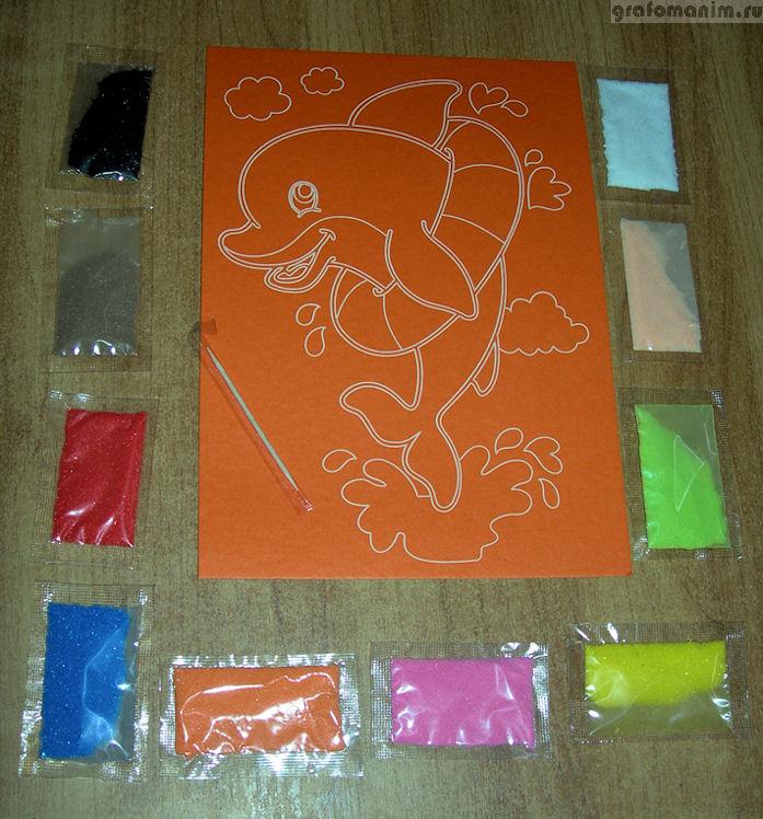 Картины цветным песком