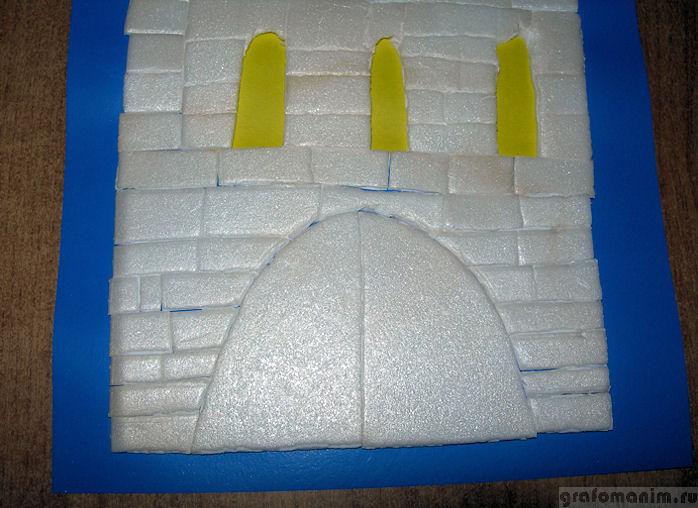 Замок из плитки