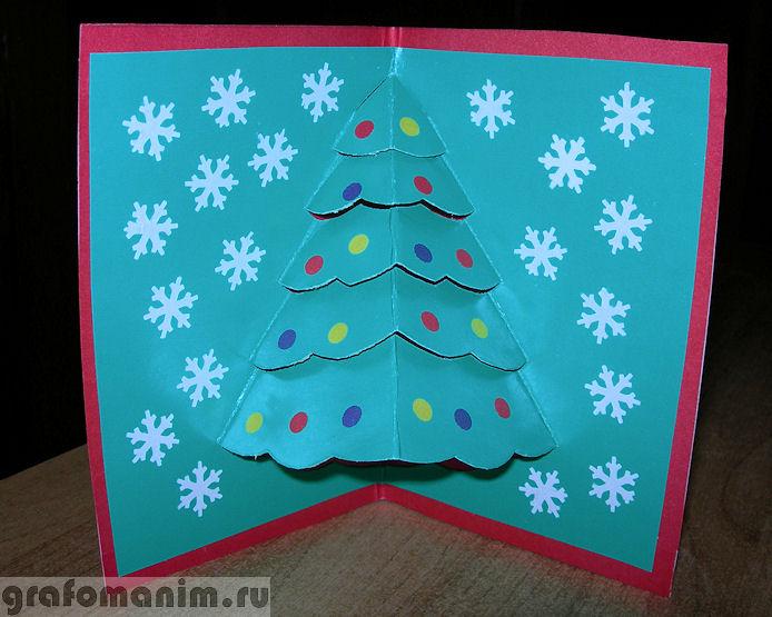 Новогодние открытки с ёлочкой