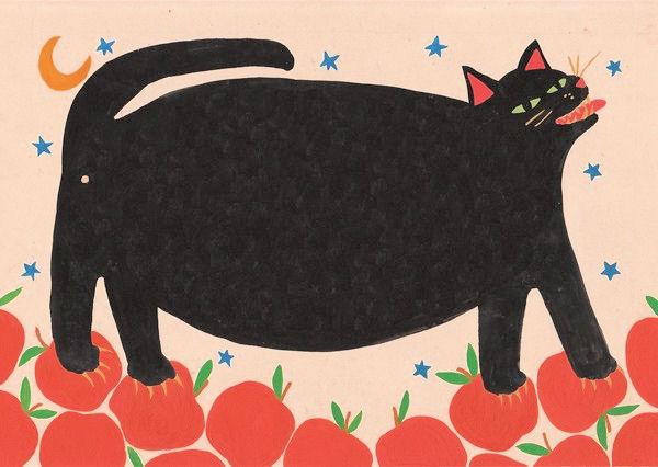 толстый чёрный кот